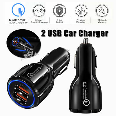 QC 3.0 Car Charger 2 Ports USB Qualcomm Quick Charge Adapter For iPhone Samsung