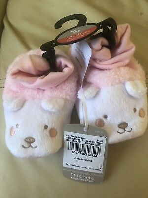 Girls 12-18 Month Slippers From Tu New With Tags