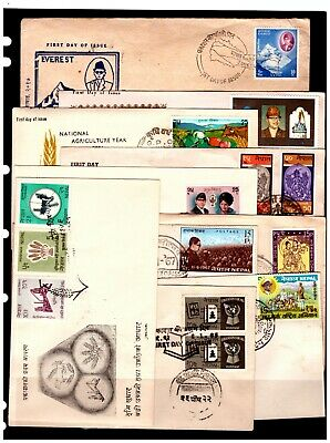 Nepal FD Covers/Postal Stationary Selection. Postmarked. #2151