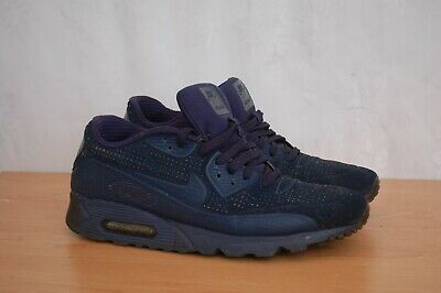 brand new ce200 61979 NIKE AIR MAX 90 Ultra Mens Navy Blue Textile Synthetic Shoes UK 8 - EU