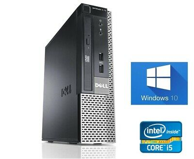 Small Fast Small Dell 790 Quad Core i5 128Gb SSD 8Gb Windows 10 Pro Desktop PC