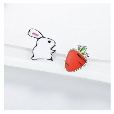 Fashion Rabbit Radish Lovely Girl Ear Stud Earrings Women Jewelry Holiday Party