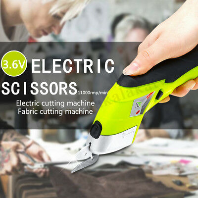 Potable Electric Scissor Cordless Auto Cutter & 2 Blades Simplicity Household