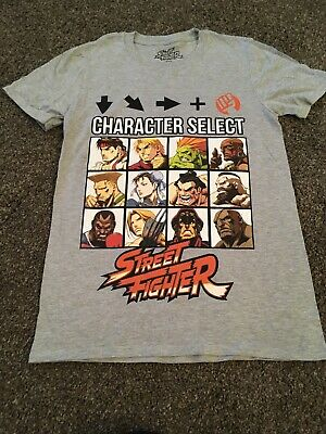 Street Fighter Character Select T Shirt Size Small