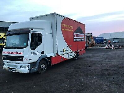 2005 daf 7.5ton removal lorry 3 container body double sleeper cab