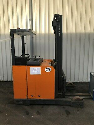 still electric reach forklift triple mast long forks for removal containers