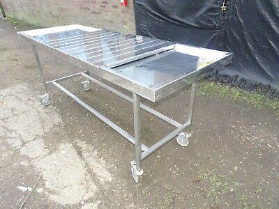 Stainless Steel Dissecting Table Trolley Body Autopsy Mortuary Funeral Morgue