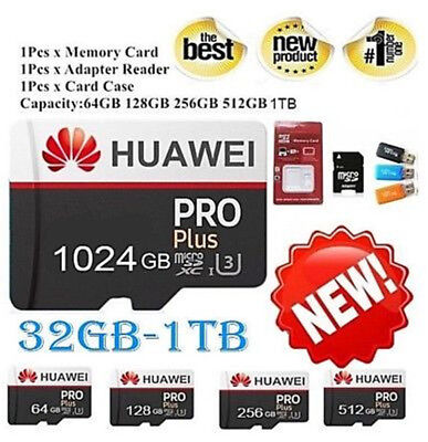 Huawei 256GB 512GB 1024GB Micro SD 1TB Memory Card Class 10 TF Flash Memory Card