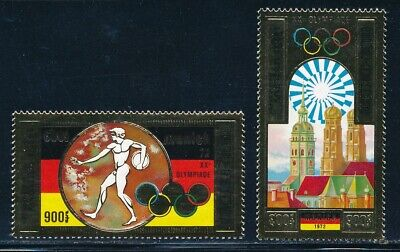 Cambodia - Munich Olympic Games MNH Gold Stamps #C28-9 (1972)