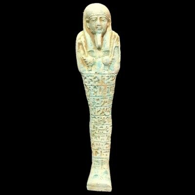 EGYPTIAN HIEROGLYPHIC SHABTI, LATE PERIOD 664 - 332 BC (5) LARGE 13 Cm !!!!!!!