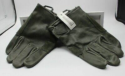 New Light Duty Leather & Suede Military Work Gloves, Foliage Green, 2XL, XXL