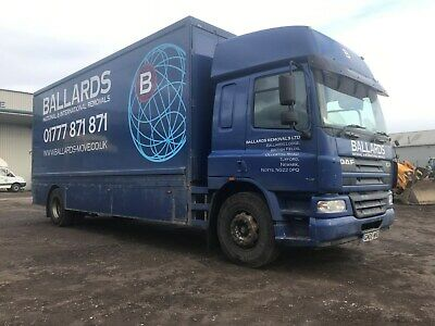 2005 daf 18ton removal lorry 4 container body double sleeper cab lez export