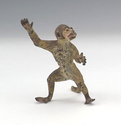 Antique Cold Painted Vienna Bronze Miniature Monkey Figure - Lovely!