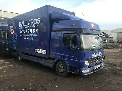 2008 57 mercedes atego 7.5ton removal lorry 3 container body double sleeper cab