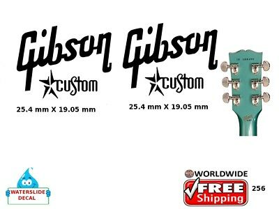 Gibson Custom Guitar Decal Headstock Sticker Inlay Decal Restoration Logo 256
