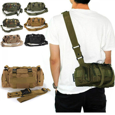Outdoor Military Tactical Waist Pack Shoulder Bag Camping Hiking Pouch Bag