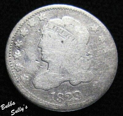 1829 Capped Bust Half Dime <> Uneven Wear <> VERY GOOD