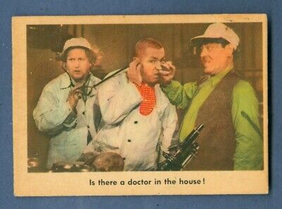 1959 Fleer THE THREE STOOGES #83 Is There A Doctor ...  *Excellent-Mint*