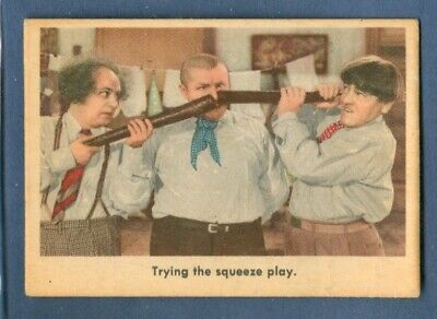 1959 Fleer THE THREE STOOGES #96 Trying The Squeeze Play *Excellent*