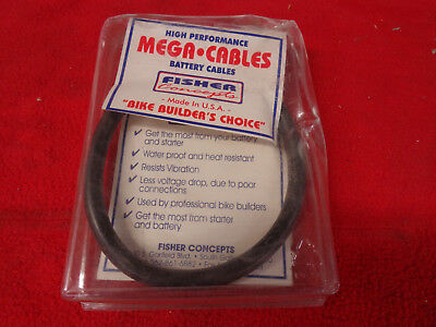 """Battery FISHER Rpl Harley's & Customs Universal Flexible Mega Strands 16"""" Cable"""