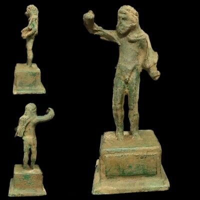 ROMAN ANCIENT BRONZE STATUE- 200-400 AD (3) OVER 16 cm TALL !!!!