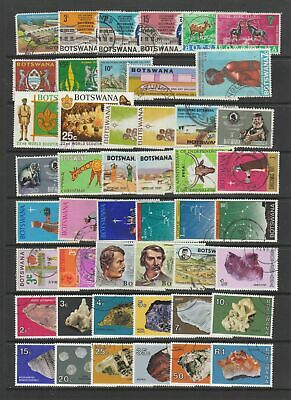 Botswana 1966 - 1981 fine used collection, 95 stamps.