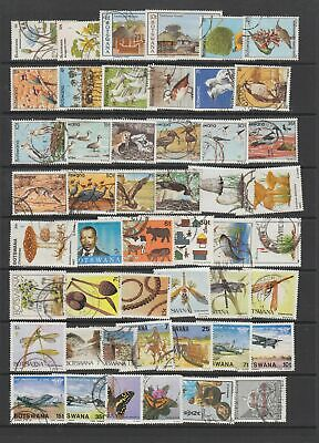 Botswana 1981 - 1997  fine used collection,162  stamps.