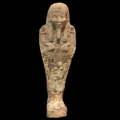 EGYPTIAN HIEROGLYPHIC SHABTI, LATE PERIOD 664 - 332 BC (13) LARGE 16.4 Cm !!!!!!