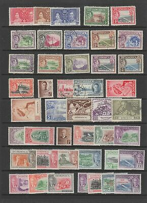 Dominica 1937 - 1951 collection, 44 stamps.MH or fine used