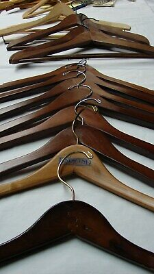 Lot 13 Used Vintage Wood Clothes Coat Hangers