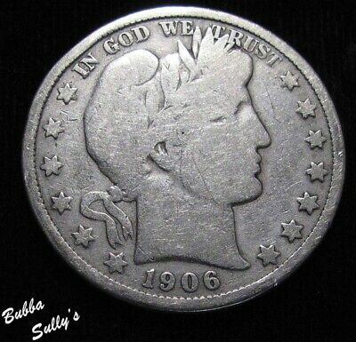1906 Barber Half Dollar <> VERY GOOD