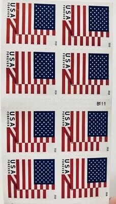 500 USPS Forever Postage Stamps US Flag (25Books of 20) New 2018