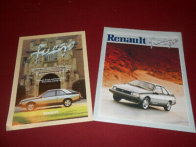 RENAULT FUEGO CATALOG and ROAD TEST BROCHURE, 2-4-1 Deal