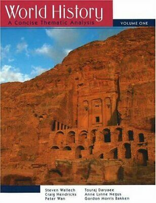 World History Vol. 1 : A Concise Thematic Analysis by Wallech, Steven