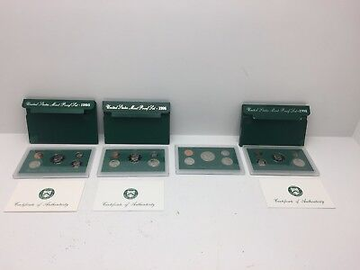 Lot of 4 United States Mint Proof Sets 1995-1998 Coins (4) (C2C1)