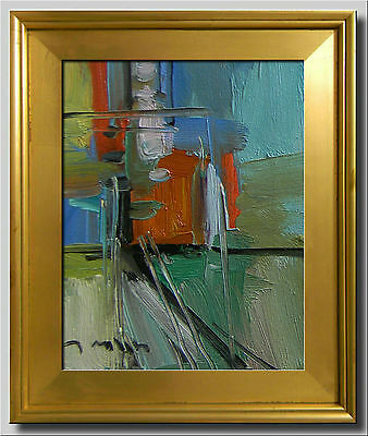 Jose Trujillo Framed Original Canvas Oil Painting Abstract Expressionist Decor