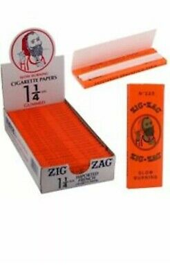 Zig Zag Orange 🔥🔥Cigarette Rolling Papers 24 🔥Packs 32 Papers Pack 1 1/4