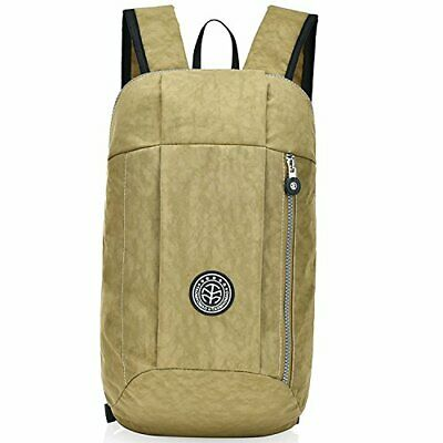 Outreo Bolso Impermeable Mochilas Sport Casual Daypack Mujer Bolsas d(Beige)