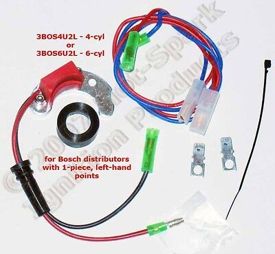 Electronic Ignition Kit for Bosch 4-cyl w/ 1-Piece, Left-Pivot Points: 3BOS4U2L