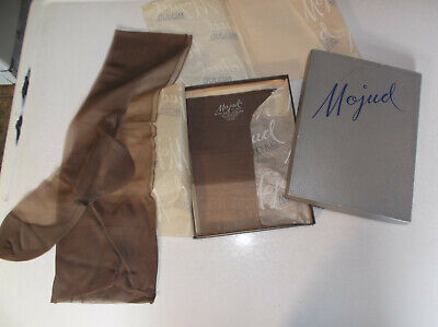2 Pair Mojud Vintage Nylon Stockings Size 10 L Seemed 1 worn 1 new