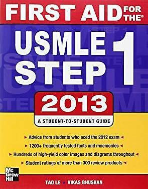 First Aid for the USMLE Step 1 2013 by Le, Tao