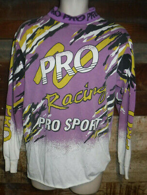 Vintage 1990's Pro Sport Racing Motocross Shirt Jersey Size Medium L@@k