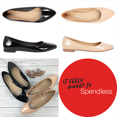 Pledge | Obsessed | Womens Patent Pointed Ballet Flats | Spendless Shoes