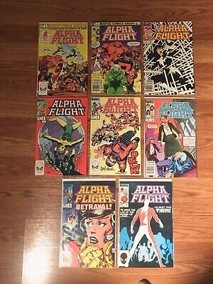 Alpha Flight Marvel Comics Lot! 8 Issues Includes #1 Great Condition Fast Ship!