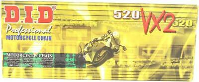 DID 520 VX2 Pro-Street X-Ring Chain 118 Links Gold