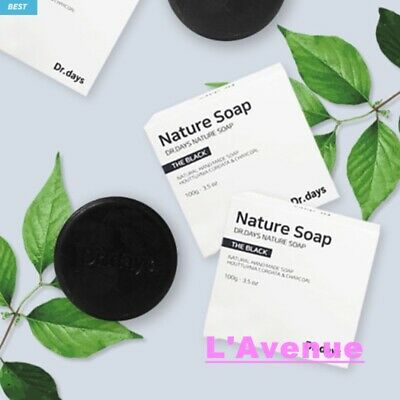 Charcoal Soap<Dr.Days>Acne Troubled Sensitive Skin Herb Cleansing Moisturizing
