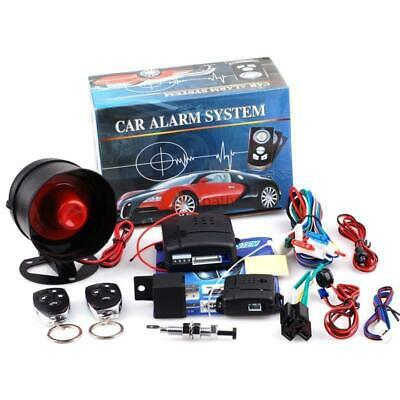 Universal Car Alarm Vehicle System Protection Security System 2 Remote Controls