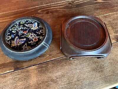 Lot of two antique and vintage Chinese vase stands