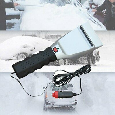 12V Car Auto Electric Heated Windshield Ice Snow Scraper Cleaning Shovel Winter