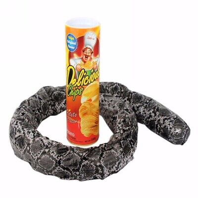 Potato Chip Jump Snake In a Can Gag Gift Prank Funny Scary Shock Party Plastic